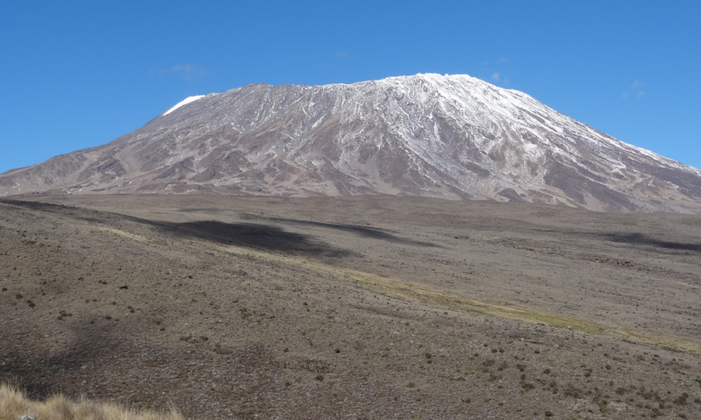 North slope of Kilimanjaro on the Rongai