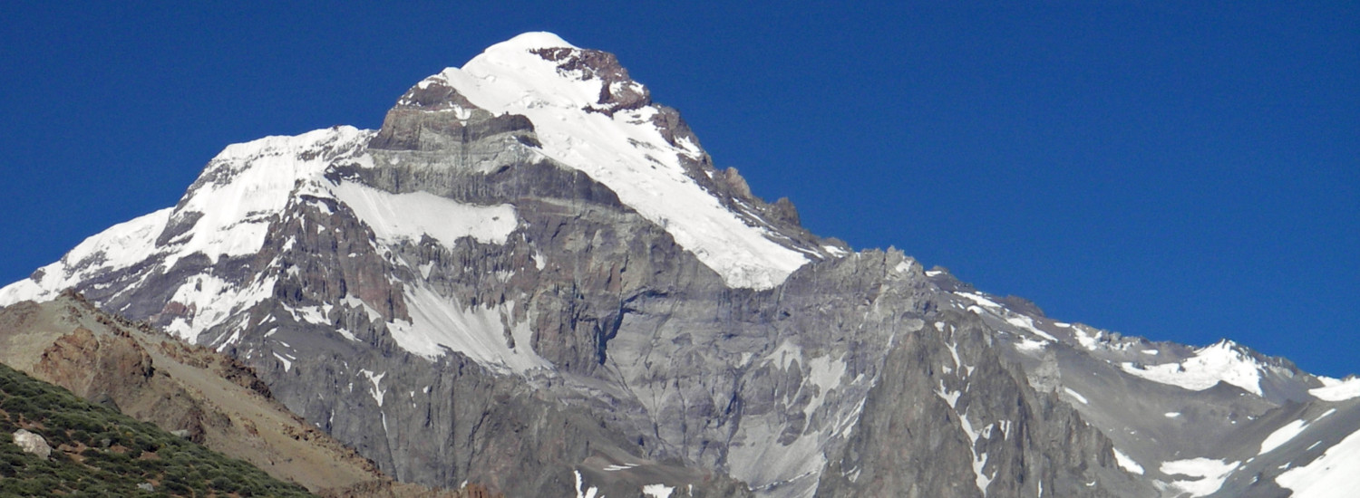 Approaching the highest point in the Western Hemisphere, Aconcagua