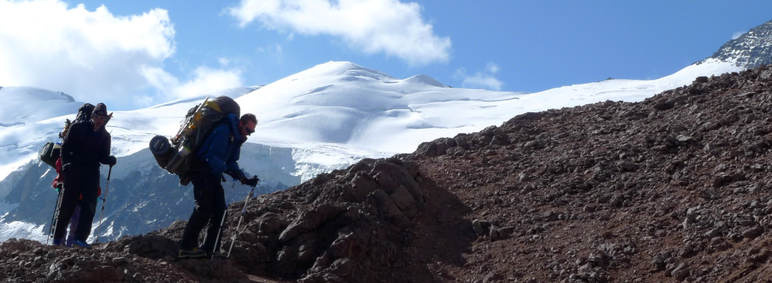 Descending from high camp on Aconcagua