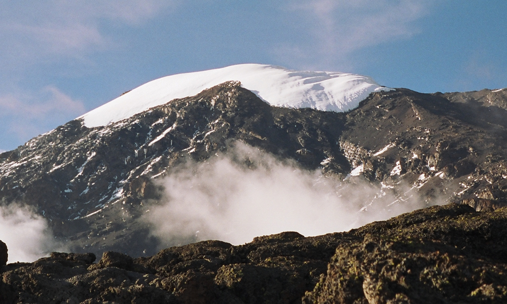 Lemosho route traverses the South Face of Kilimanjaro