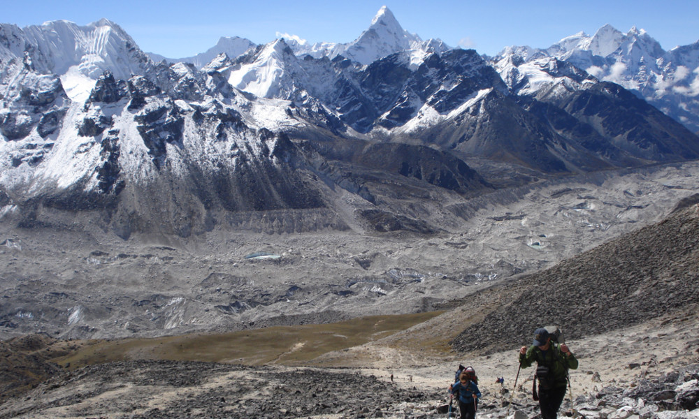 Heading out for a trekking peak in the upper Khumbu