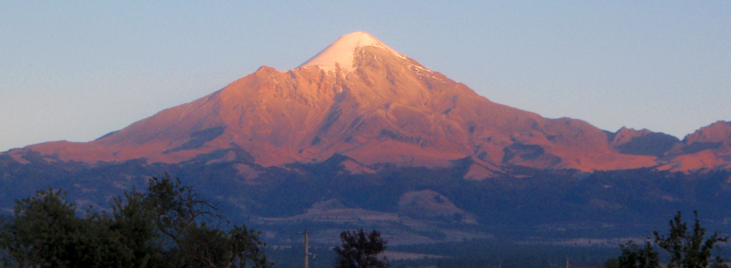 Pico de Orizaba from the town of Tlachichuca, Mexico
