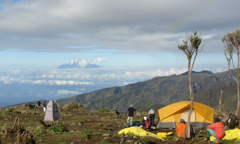 Enjoying the afternoon at Shira Camp on the Machame Route