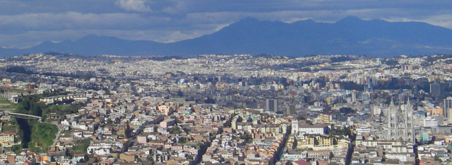 The city of Quito, and eternal spring