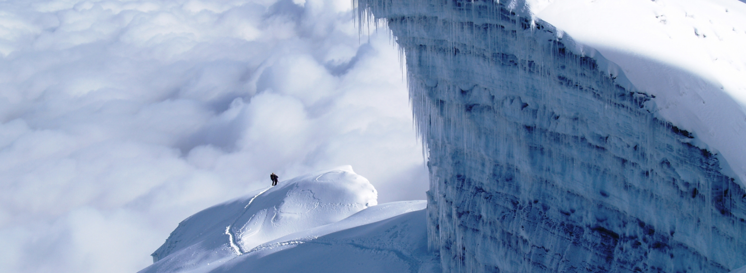 Descending from the summit of Cotopaxi