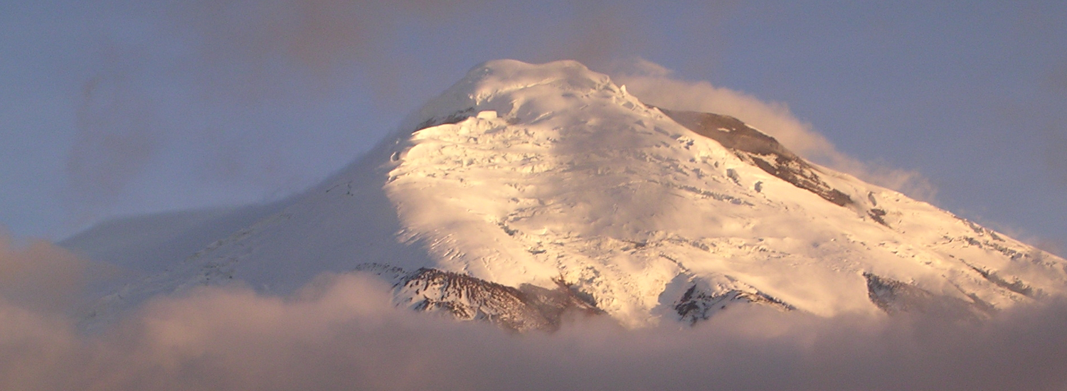 Cotopaxi rising above the morning clouds