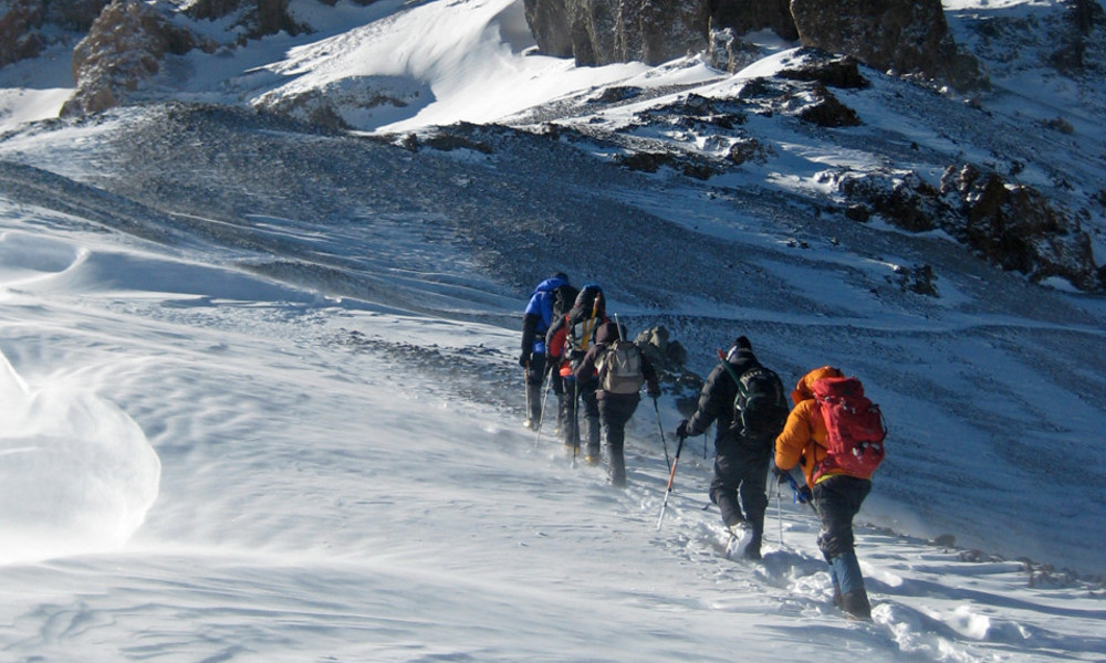 setting out on summit day