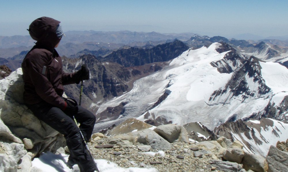 View from high camp