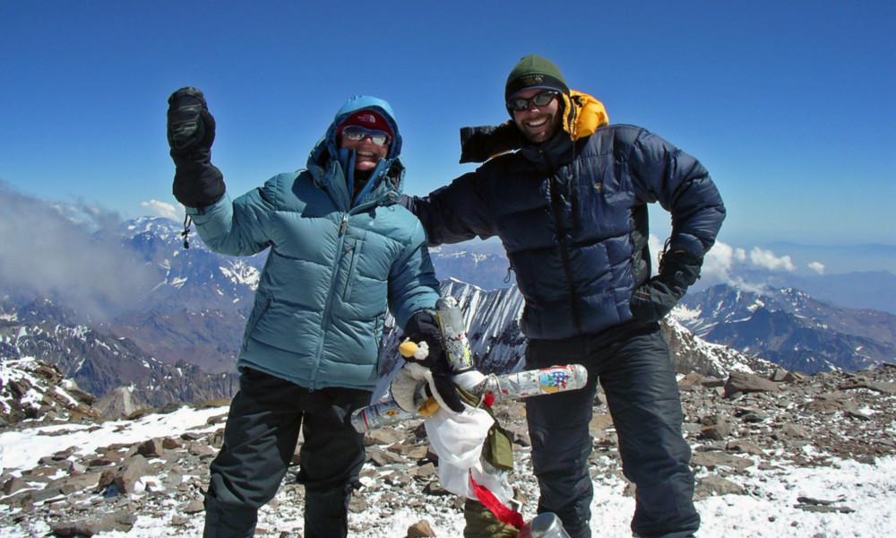 Bluebird Summit day on top of Aconcagua