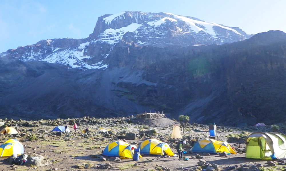 Barranco camp - one of the most scenic on the mountain