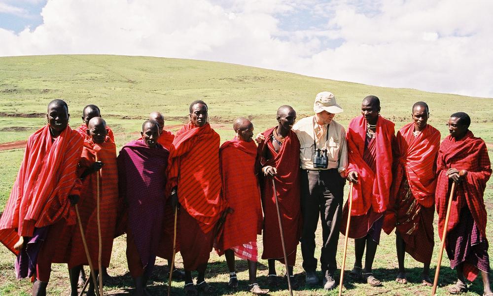Masai herders on the way to Ngorongoro Crater